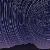 Beautiful star trail image during at night — Stock Photo