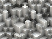 Building structure from cubes. Abstract architecture backgrounds — Stock Photo