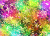 Multicolored Bokeh from Round and Star Shapes in Chaotic Arrange — Stock Photo