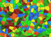 Stained glass multicolored window backgrounds — Stock Photo