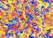 Partícula 3d multicolor brillante abstracto estalló fondos — Foto de Stock