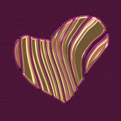 Golden heart shape cutting on different parts — Zdjęcie stockowe
