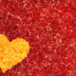Big painted heart on red textured background. Valentine's day sy — Stock Photo #48680297