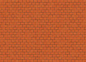 Red small brick hi-res wall pattern — Stock Photo