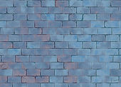 Blue small brick hi-res wall pattern — Stock Photo