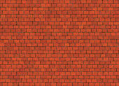 Hi-res red small brick wall pattern — Stock Photo