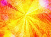 Sunshine sun rays with whirl bubbles backgrounds — Stock Photo