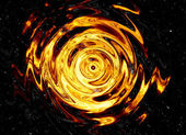 Twirl of bright explosion flash on black backgrounds. fire burst — Foto Stock