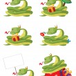 Collection snake — Stock Vector