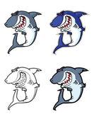 Evil shark mascot — Stock Vector