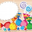 Candy sticker background — Stock Vector