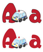 Letter A ambulance — Stock Vector