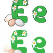 Letter E egg — Stock Vector