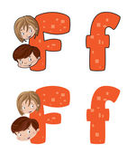 Letter F face — Stock Vector