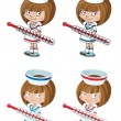 Set nurse - Stock Vector