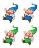 Walking gnome — Stock Vector