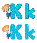 Letter K kid — Stock Vector