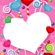 Royalty-Free Stock Vector Image: Illustration of a candy heart