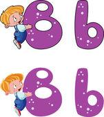 Cartoon bokstaven b — Stockvektor