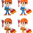 Figures of plumber — Stock Vector