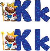 Resmi bir mektup k kral — Stok Vektör