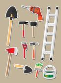 Set di sticker strumenti — Vettoriale Stock