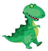 Going dinosaur — Stock Vector