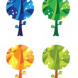 Royalty-Free Stock Vector Image: Trees set funny