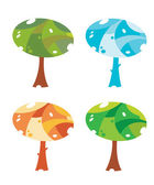 Trees cute — Stock Vector