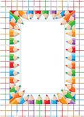 Tarjeta de lápices gracioso — Vector de stock