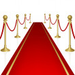 Red carpet — Stock Vector