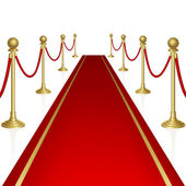 Red carpet — Vector de stock