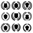 Set of heraldic emblems — Stock Vector