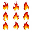 Set of flame — Stock Vector