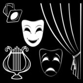 Collection of theatrical characters — Stock Vector