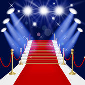 Red carpet with ladder — Stock Vector