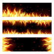 Set of backgrounds with flame. — Stock Vector #22668543
