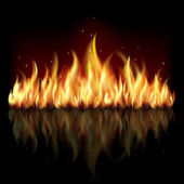 Background with flame. — Stock Vector