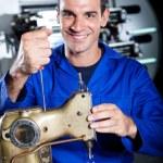 Happy industrial mechanic — Stock Photo #10229763