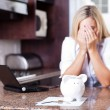 Young woman having financial problems — Stock Photo #10235427