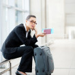 Young businesswoman waiting at airport — Stock Photo #10422723