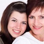 Mother and teen daughter closeup — Stock Photo #11102122