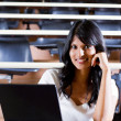 Female college student in university lecture room — Stock Photo #11308665