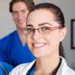 Female doctor closeup portrait — Stock Photo #12037337