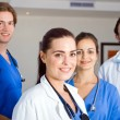 Group of young healthcare workers portrait — Stock Photo