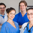 Group of young medical workers portrait — Stock Photo