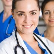 Portrait of young pretty nurse closeup — Stock Photo
