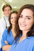 Sağlık çalışanlarının dikey grup — Stok fotoğraf