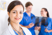 Young female medical worker closeup portrait — Stock Photo