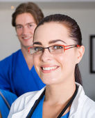 Female doctor closeup portrait — Stock Photo